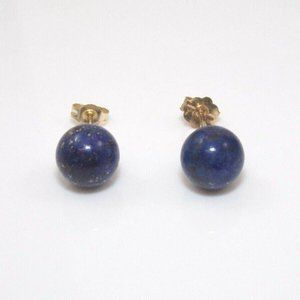 No brand / Not sure Jewelry - 14K Yellow Gold Blue Lapis Bead Earrings
